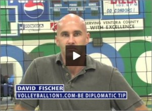 David Fischer Volleyball Be Diplomatic