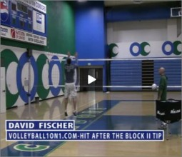 David Fischer Volleyball Block to Hit Transition