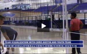 Early Practice Volleyball Visualization Exercises with Chris Austin and Team