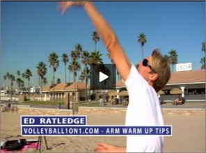 Ed Ratledge Beach Volleyball Arm Warm Up