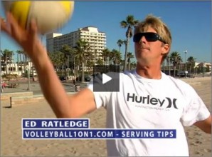 Ed Ratledge Beach Volleyball Breathing while Serving