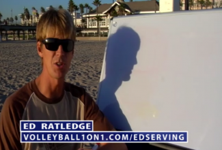 Ed Ratledge Beach Volleyball Serving