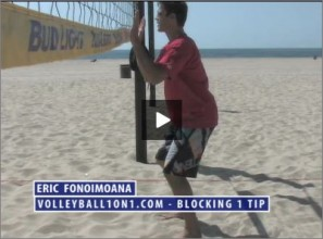 Eric Fonoimoana Beach Volleyball Blocking 1