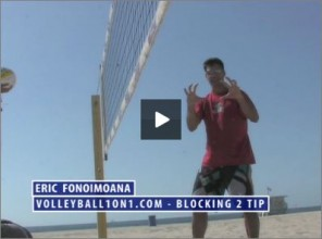 Eric Fonoimoana Beach Volleyball Blocking 2