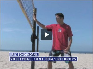Eric Fonoimoana Beach Volleyball Blocking