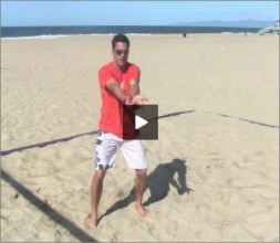 Eric Fonoimoana Beach Volleyball Bump Setting
