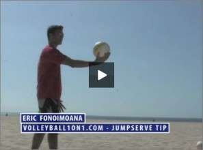 Eric Fonoimoana Beach Volleyball Jump Serving
