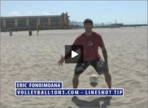 Eric Fonoimoana Beach Volleyball Line Shot