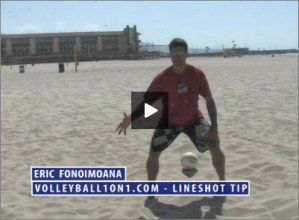 Eric Fonoimoana Beach Volleyball Line Shot