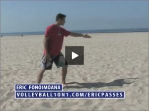 Eric Fonoimoana Beach Volleyball Passing