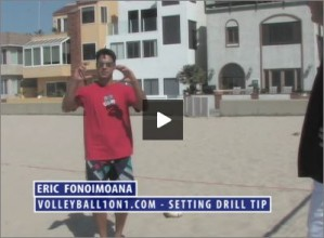 Eric Fonoimoana Beach Volleyball Setting Drill