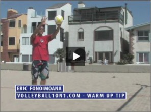 Eric Fonoimoana Beach Volleyball Warm Up 1
