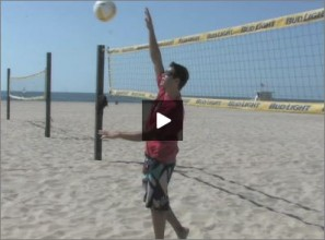 Eric Fonoimoana Beach Volleyball Warm Up 2