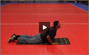 Eric Fonoimoana Volleyball Stretching - Cobra hold