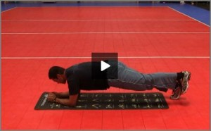 Eric Fonoimoana Volleyball Stretching - One Leg Plank