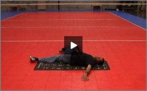 Eric Fonoimoana Volleyball Stretching - Open Book