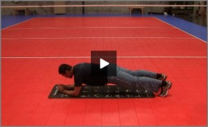 Eric Fonoimoana Volleyball Stretching - Plank