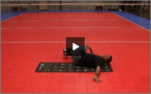 Eric Fonoimoana Volleyball Stretching - Reclining Spinal Twist