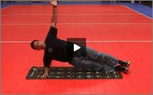 Eric Fonoimoana Volleyball Stretching - Side Plank