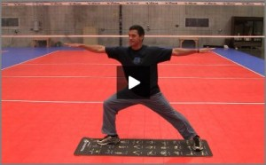 Eric Fonoimoana Volleyball Stretching - Warrior Pose