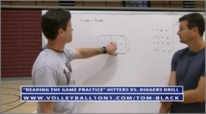 Free Video - Diggers verses Hitters Volleyball Drill With Tom Black