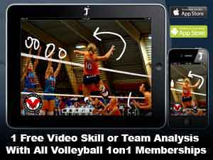 Free Online Video Analysis with Volleyball1on1 Membership