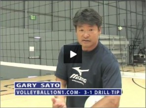 Gary Sato Volleyball 3-1 Hitting Drill