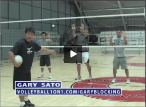 Gary Sato Volleyball Blocking