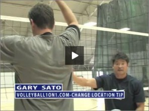Gary Sato Volleyball Change Location