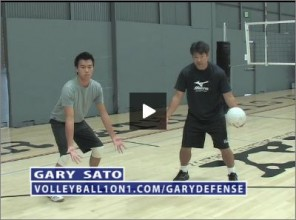 Gary Sato Volleyball Defense