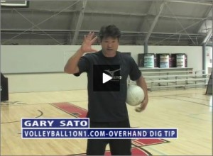 Gary Sato Volleyball Overhand Dig