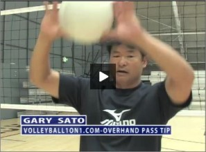 Gary Sato Volleyball Overhand Pass