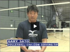 Gary Sato Volleyball Serving