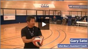 Gary Sato Youth Multi Skill Volleyball Warm Up Drill With Progressions