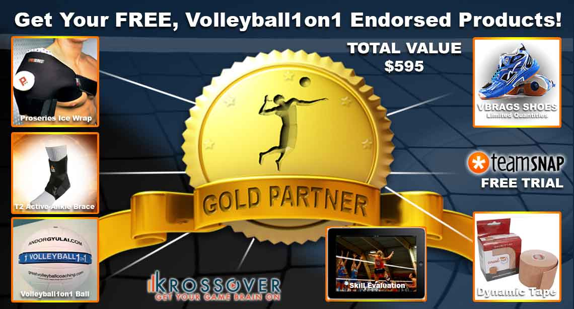 Volleyball1on1 Offers Over $595 of FREE Volleyball Goods with Membership!!!