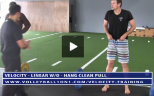 Hang Clean Pull Exercise - Workout 1 - Linear
