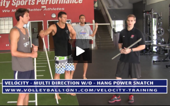 Hang Power Snatch Exercise and Ankle Mobility- Strength and Power Portion of Velocity Workout 3