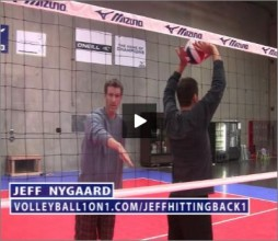 Jeff Nygaard Volleyball Back 1 Hitting
