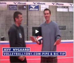 Jeff Nygaard Volleyball Hitting the Bic and History