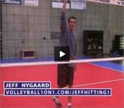 Jeff Nygaard Volleyball Middle 1 Hitting