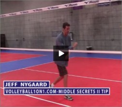 Jeff Nygaard Volleyball Middle Blocking Secret II