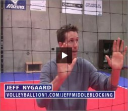 Jeff Nygaard Volleyball Middle Blocking
