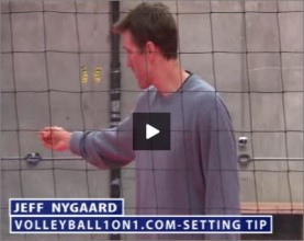Jeff Nygaard Volleyball Middle Hitter Setting