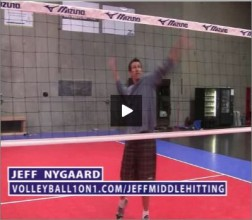 Jeff Nygaard Volleyball Middle Hitting