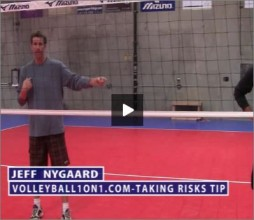 Jeff Nygaard Volleyball Taking Risks