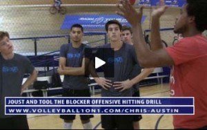 Joust or Tool The Blocker Offensive Hitting Drill with Chris Austin - Part 2