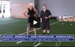 Jump Progression - Barrier Hops Exercise and Jump Technique  Breakdown - Video 1 - Velocity Workout 2