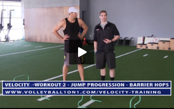 Volleyball Jump Progression Training Barrier Hops Exercise And Technique Breakdown 3 S Volleyball1on1