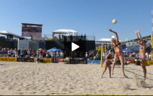 Kerri Walsh and April Ross - Sideout on Angle Attack Off Serve, Kerri Spiking
