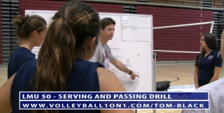 LMU 50 - Passing and Serving Volleyball Drill with Tom Black